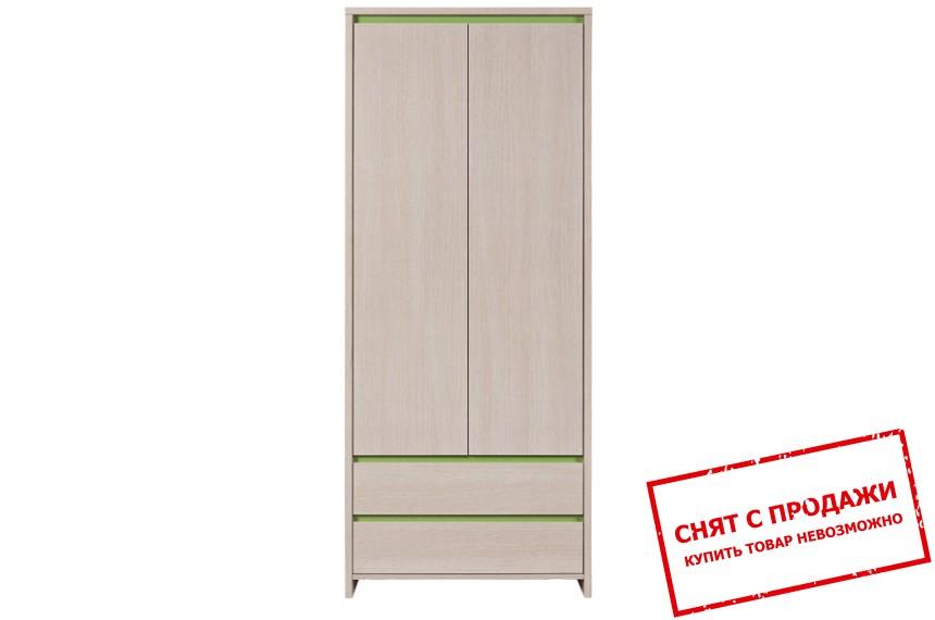 Шкаф платяной Нумлок зеленый SZF2D2S БРВ