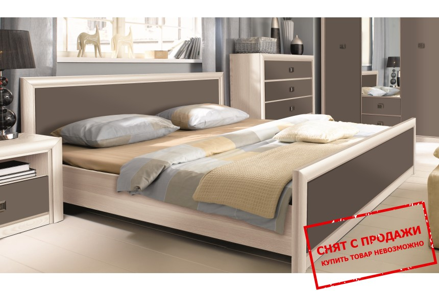 Кровать Коен 2 Дуб темный хаки LOZ160 БРВ