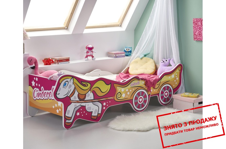 Ліжко дитяче Halmar CINDARELLA