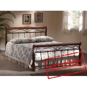 Ліжко двоспальне Signal Venecja 160х200 черешня антична