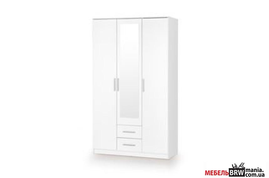 Шкаф Halmar LIMA S-3 белый с зеркалом