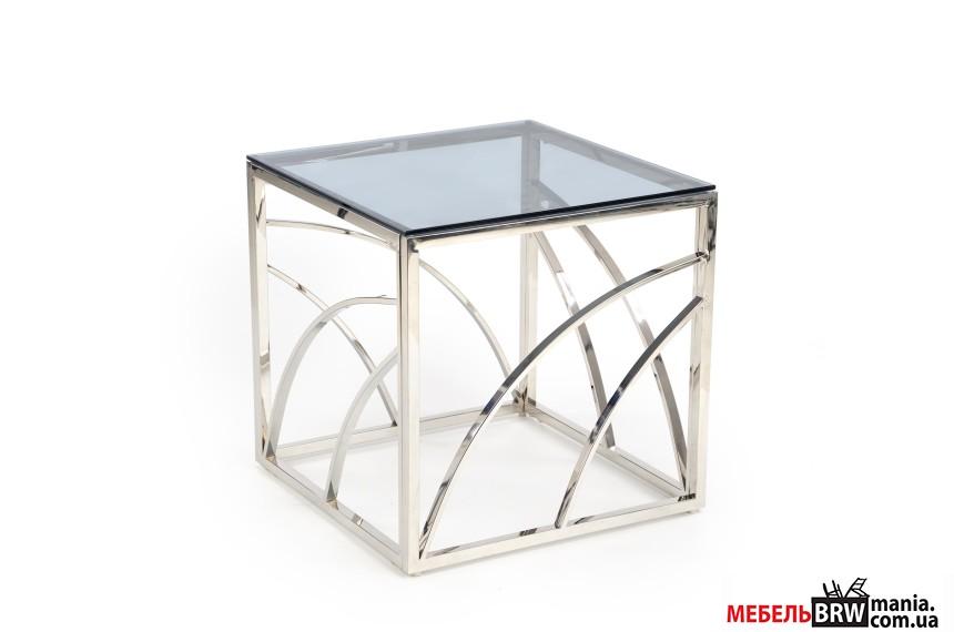 Стол журнальный Halmar UNIVERSE квадратный silver