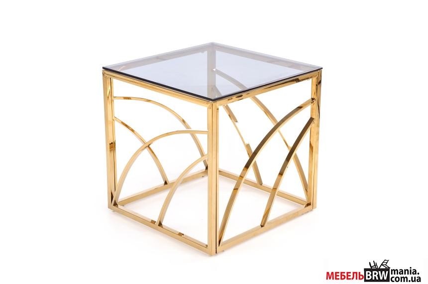 Стол журнальный Halmar UNIVERSE квадратный gold