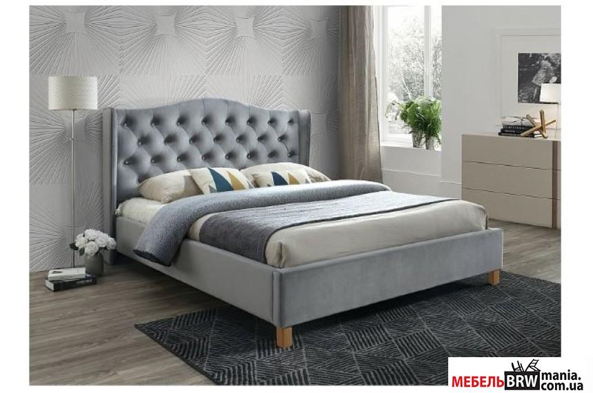 Кровать двуспальная Signal Aspen Velvet 160х200