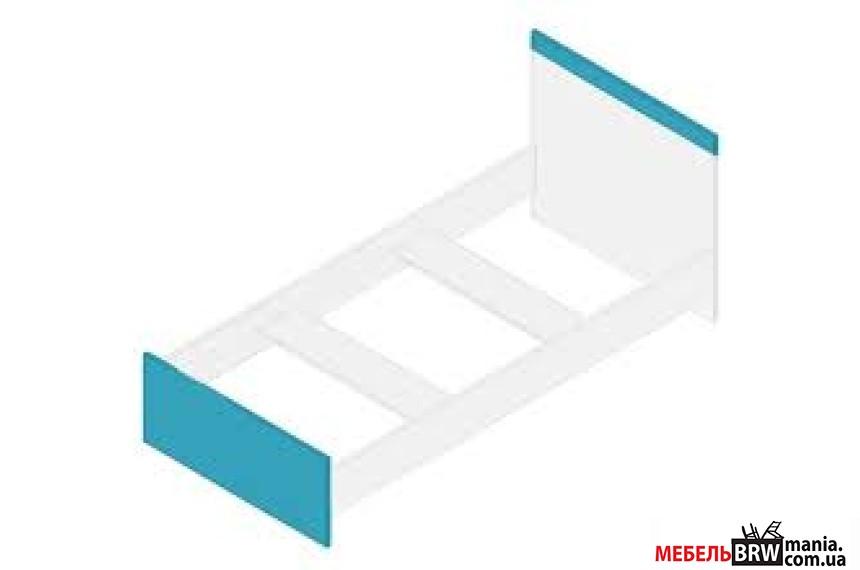 Кровать (каркас) Моби Нимфеа альба/Морская волна LOZ90 Гербор