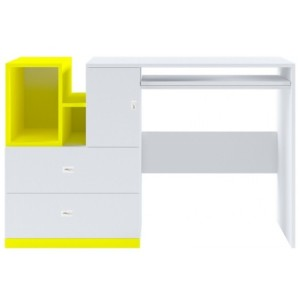 Стіл письмовий Мобі Німфеа альба/Жовтий BIU130 Гербор