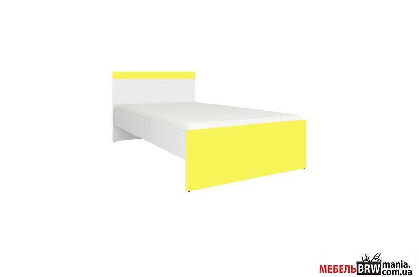 Ліжко (каркас) Мобі Німфеа альба/Жовтий LOZ90 Гербор