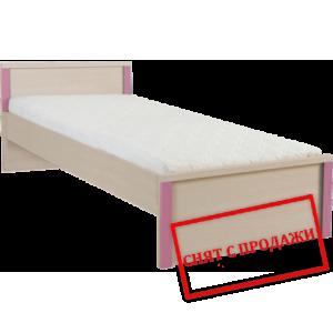 BRW (БРВ) Кровать Капс Caps Розовый LOZ/90+ламель