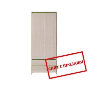 BRW (БРВ) Шкаф платяной Нумлок Numlock зеленый SZF2D2S