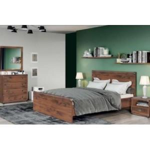 BRW (БРВ) Кровать  Индиана Indiana (дуб шутер) JLOZ140 (Каркас)
