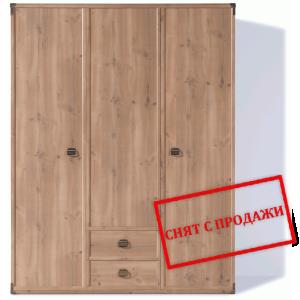 BRW (БРВ) Шкаф платяной Индиана Indiana (сосна античная) JSZF_3d2s_150