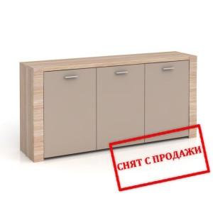 BRW (БРВ) Комод Рафло Raflo (орех салев / серый глянец) SFK 3D 7/15
